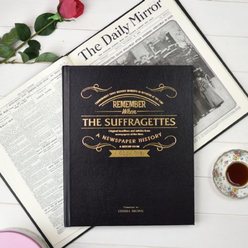 Personalised The Suffragettes Newspaper Book